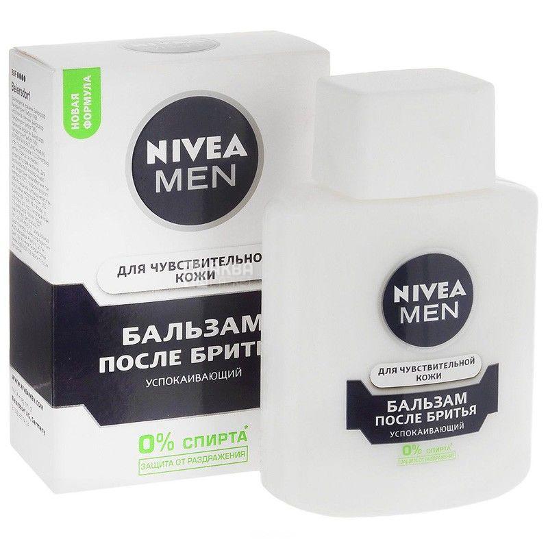 Nivea, 100 мл, бальзам после бритья, Для чувствительной кожи, стекло