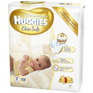 Huggies, 2 / 88 шт. 3-7 кг, подгузники, Elite Soft Mega