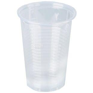 Glass plastic Transparent steady 180 ml, 100 pieces. ATEM