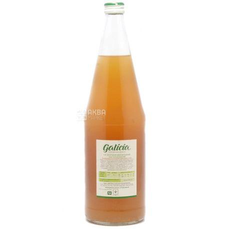 Galicia, Яблучний, 1 л, Галіція, Сік натуральний, без додавання цукру, скло