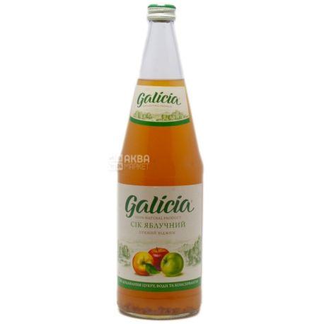 Galicia, Яблочный, 1 л, Галиция, Сок натуральный, без добавления сахара, стекло