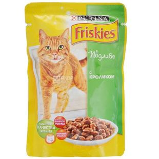 Friskies, 100 г, корм, для котів, з кроликом у підливці