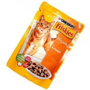Friskies, 100 г, корм, для котів, з куркою у підливці