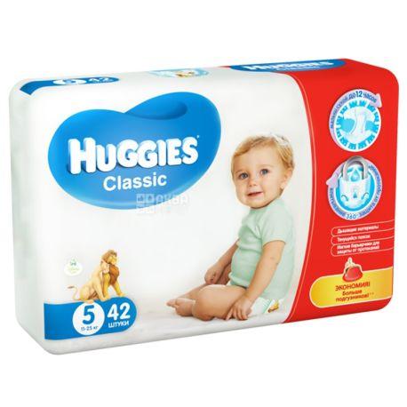 Huggies, 5 / 42 шт. 11-25 кг, подгузники, Classic Jumbо