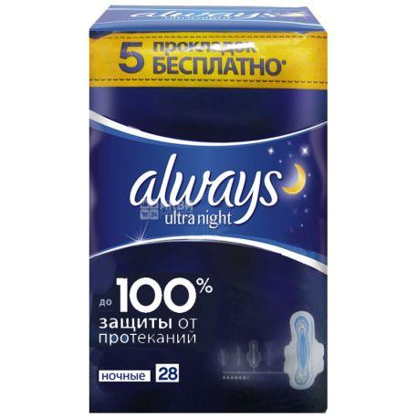 Always, 32 шт., прокладки ароматизовані, Ultra Night