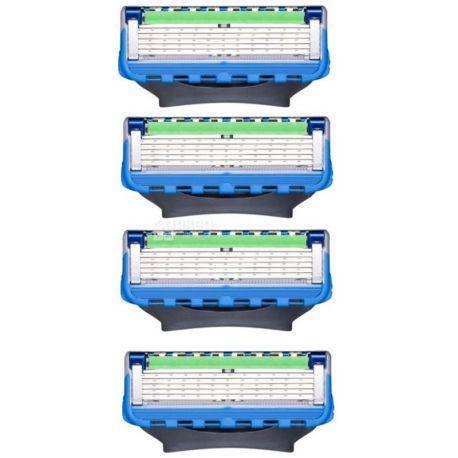 Gillette, 4 шт., кассеты, сменные, Fusion Proglide