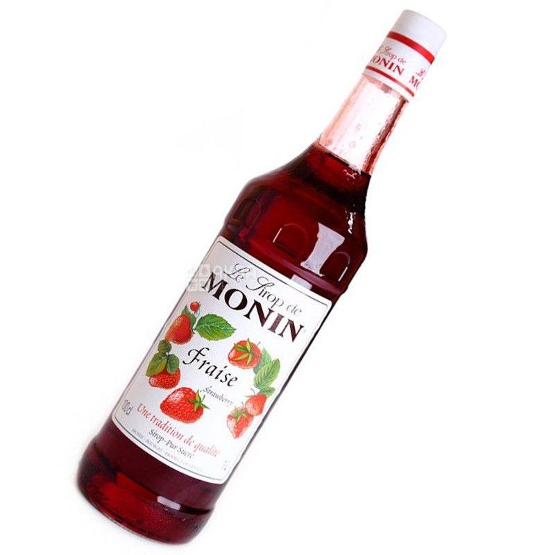 Monin, Strawberry, 1 л, Сироп Монін, Полуниця, ПЕТ