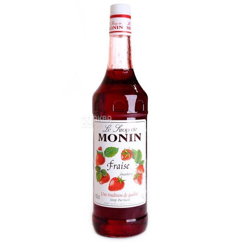 Monin, Strawberry, 1 л, Сироп Монин, Клубника, ПЭТ