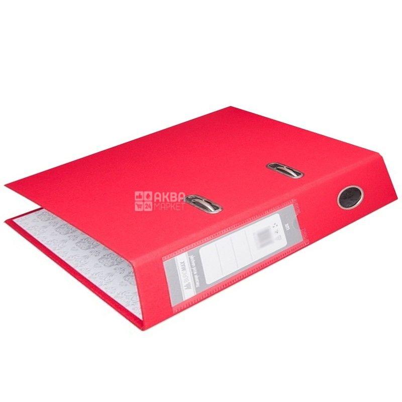 Buromax, 7 см, папка-реєстратор, Червона, А4, м/у