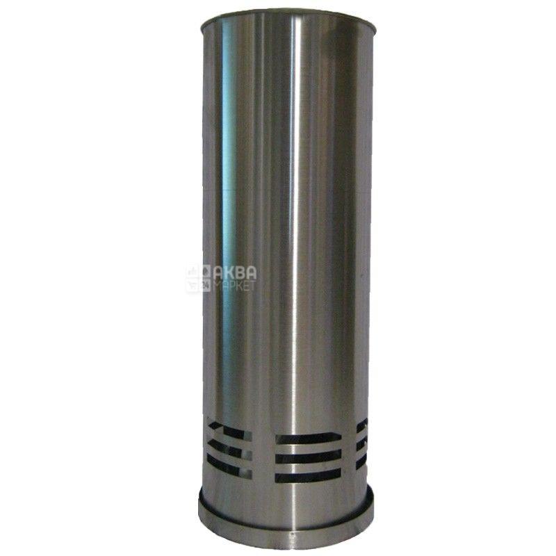 Йоржик, для туалету, З підставкою, Нержавіюча сталь
