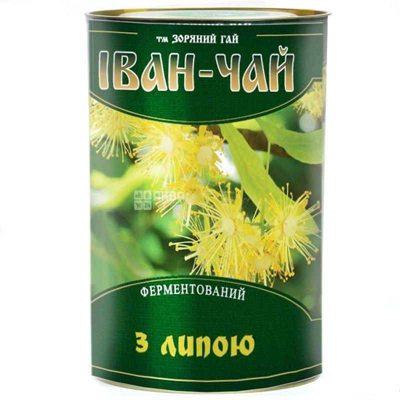 Зоряний гай, Іван-чай з липою, 100 г, Чай трав'яний, ферментований, тубус