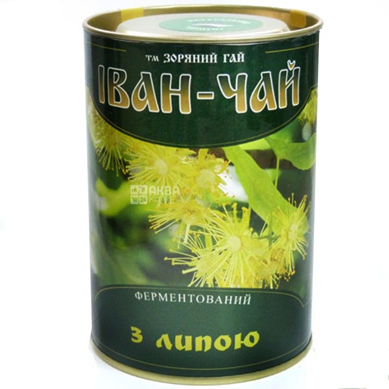 Зоряний гай, Иван-чай с липой, 100 г, Чай травяной, ферментированный, тубус