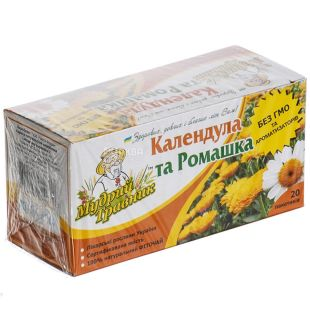 Wise Travnik, 20 pcs, herbal tea, Calendula and Chamomile