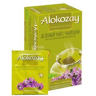 Alokozay, 25 шт., чай зелений, з чебрецем