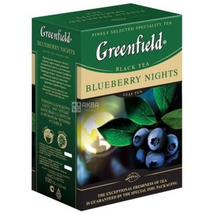 Greenfield, Blueberry Nights, 100 г, Чай Грінфілд, Блуберрі Найтс, чорний з чорницею