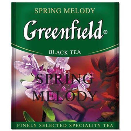 Greenfield, Spring Melody, 100 пак., Чай Грінфілд, Спрінг Мелоді, чорний, HoReCa