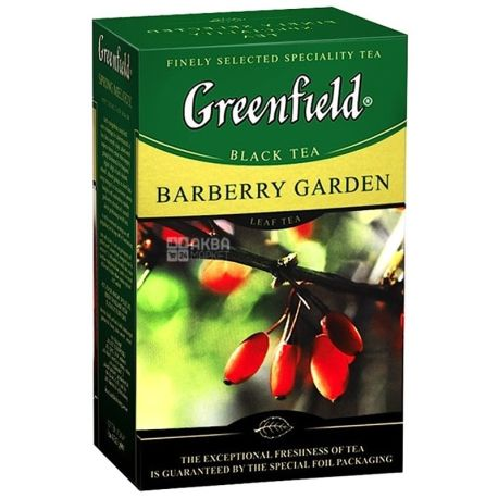 Greenfield, Barberry Garden, 100 г, Чай Гринфилд, Барберри Гарден, черный с барбарисом