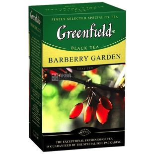 Greenfield, 100 g, black tea, Barberry Garden