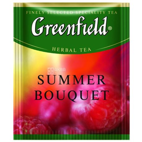 Greenfield, Summer Bouquet, 100 пак., Чай Гринфилд, Саммер Букет, травяной с малиной, HoReCa