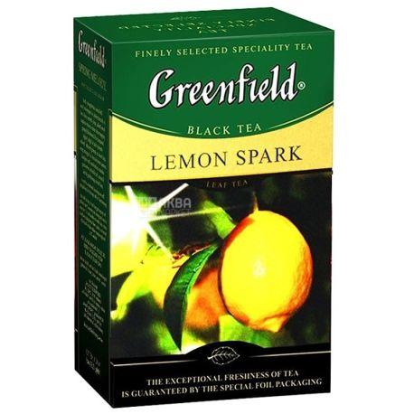 Greenfield, Lemon Spark, 100 г., Чай Гринфилд, Лемон Спак, черный с лимоном