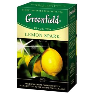 Greenfield, 100 g, black tea, Lemon Spark