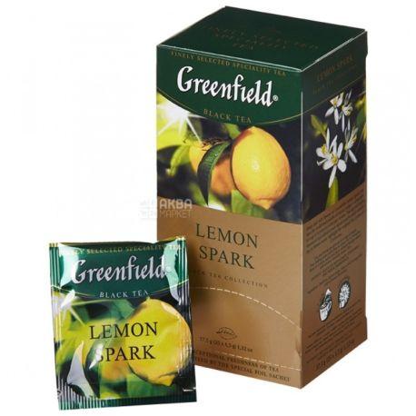Greenfield, Lemon Spark, 25 пак., Чай Грінфілд, Лемон Спак, чорний з лимоном