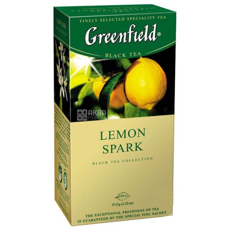 Greenfield, 25 шт., чай черный, Lemon Spark