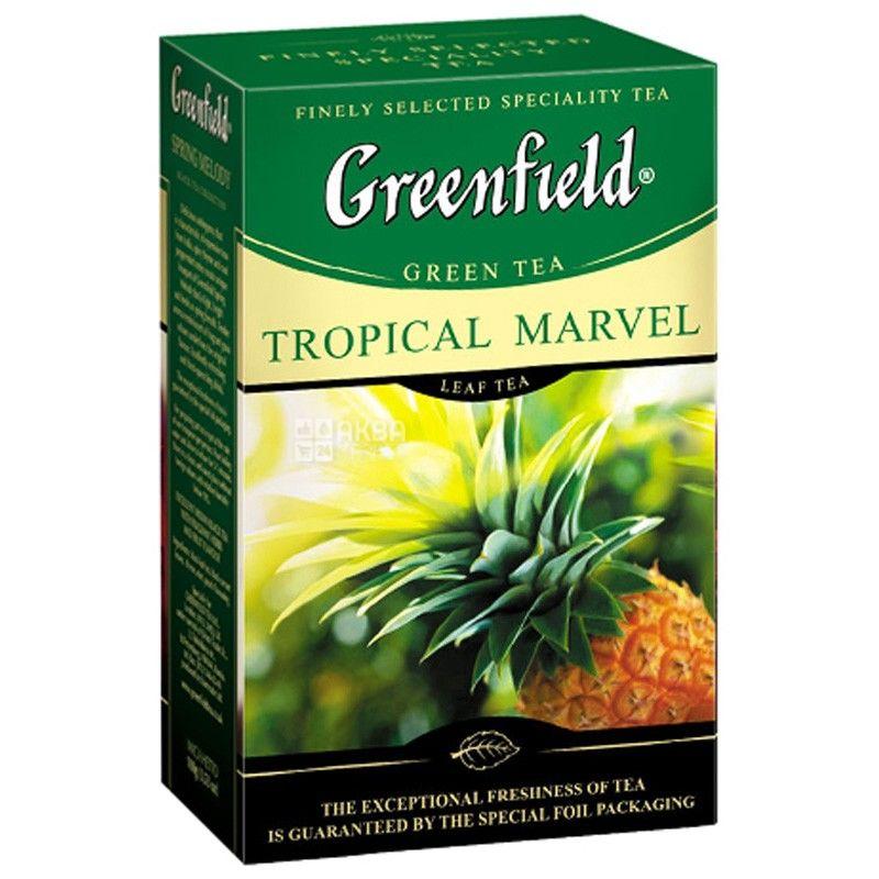 Greenfield,Tropical Marvel, 100 г, Чай Гринфилд, Тропикал Марвел, зеленый с тропическими фруктами