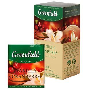 Greenfield, Vanilla Cranberry, 25 пак., Чай Грінфілд, Ванилла Кренберрі, чорний з ароматом ванілі