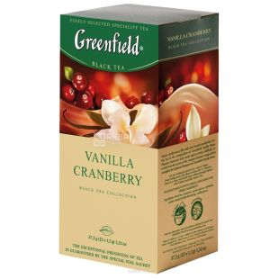 Greenfield, 25 units, black tea, Vanilla Cranberry