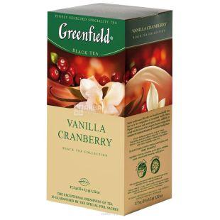 Greenfield, Vanilla Cranberry, 25 пак., Чай Гринфилд, Ванилла Крэнберри, черный с ароматом ванили