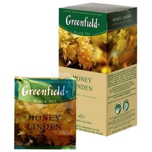 Greenfield, Honey Linden, 25 пак., Чай Гринфилд, Хани Линден, черный с медом