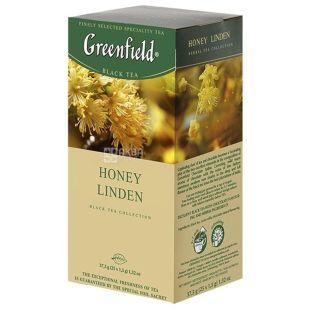 Greenfield, 25 шт., чай черный, Honey Linden