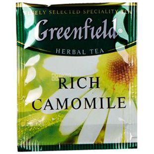 Greenfield, Rich Camomile, 100 пак., Чай Грінфілд, Річ Камомайл, трав'яний з ароматом кориці, HoReCa