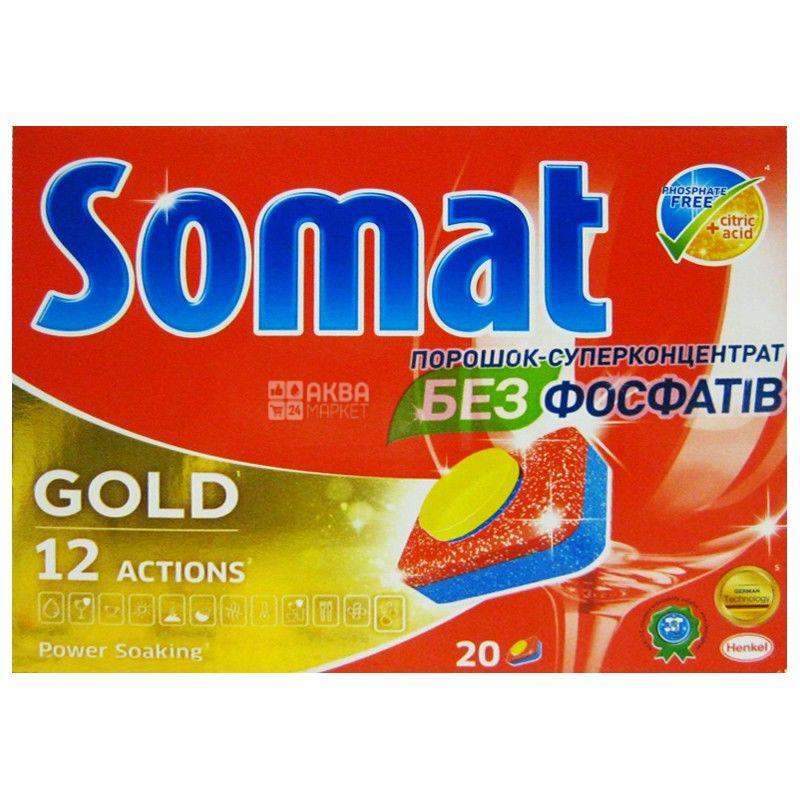 Somat Gold, 20 шт., таблетки для посудомоечных машин
