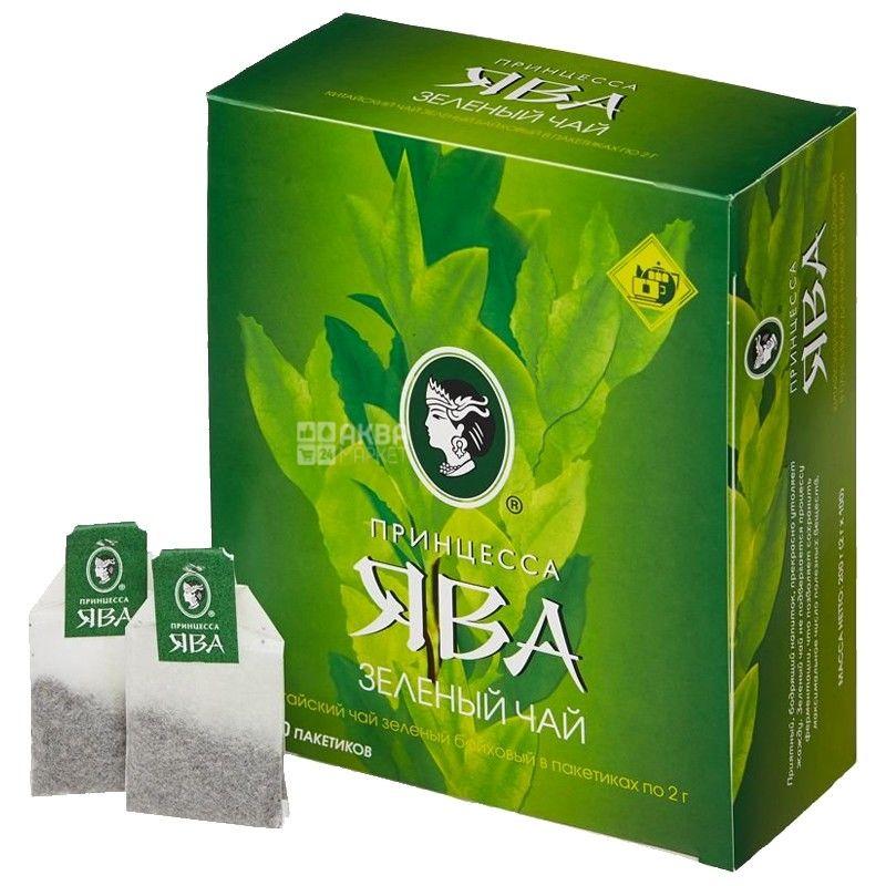 Принцеса Ява, Зелений Байховий, 100 пак., Чай