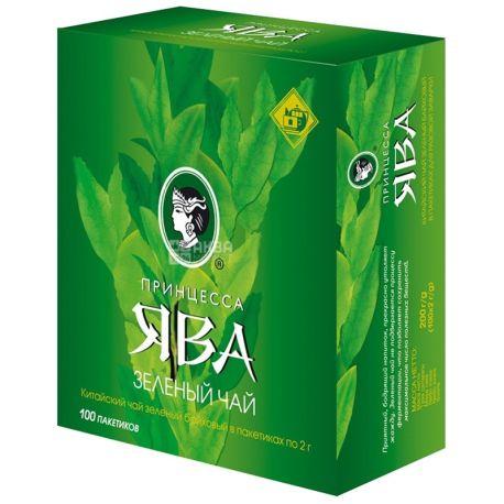 Принцесса Ява, Зеленый Байховый, 100 пак., Чай