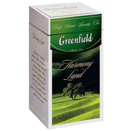 Greenfield, Harmony Land, 125 г, Чай Грінфілд, Хармоні Ленд, зелений, ж / б