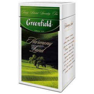 Greenfield, 125 г, чай зелений, Harmony Land, ж/б