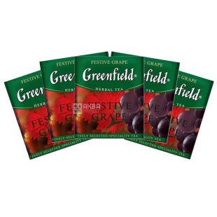 Greenfield, Festive Grape,100 пак., Чай Гринфилд, Виноград, травяной, HoReCa