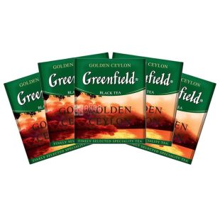 Greenfield, Golden Ceylon, 100 пак., Чай Грінфілд, Голден Цейлон, чорний, HoReCa