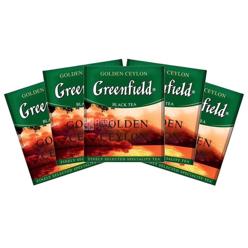 Greenfield, Golden Ceylon, 100 пак., Чай Гринфилд, Голден Цейлон, черный, HoReCa