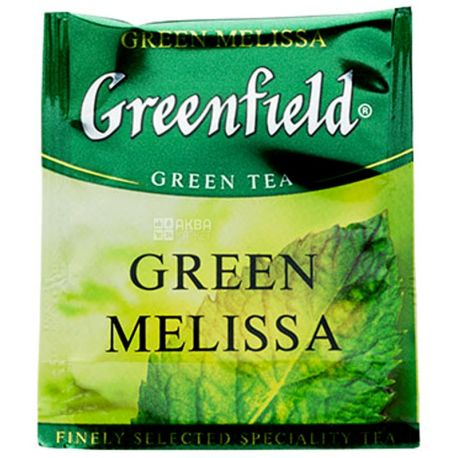Greenfield, Green Melissa, 100 пак., Чай Грінфілд, Грін Меліса, зелений, HoReCa