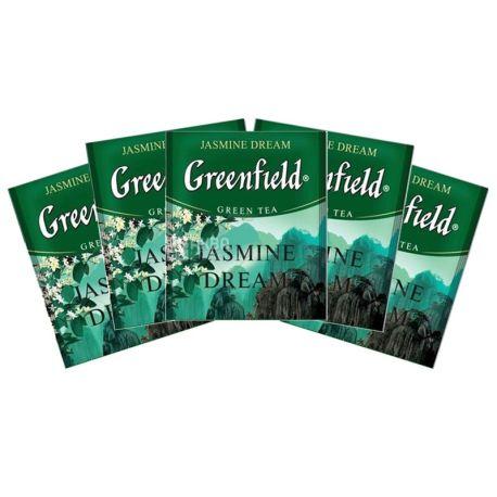 Greenfield, Jasmine Dream, 100 пак., Чай Гринфилд, Жасмин Дрим, зеленый с жасмином, HoReCa