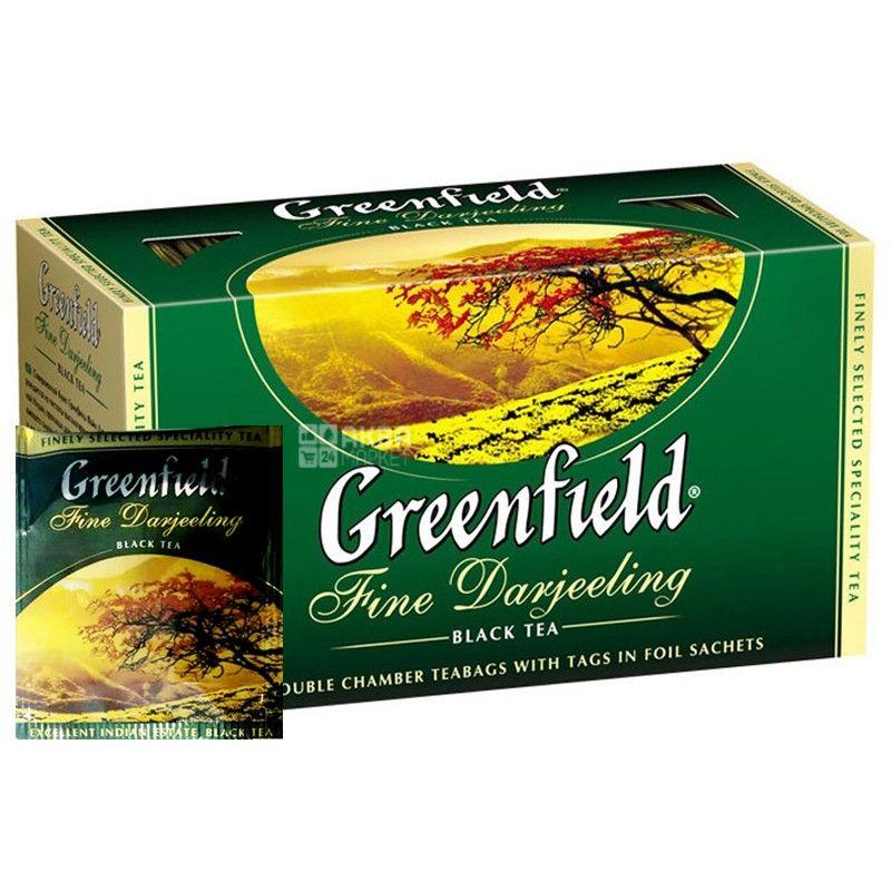 Greenfield, 25 шт., чай чорний, Fine Darjeeling