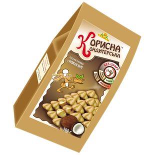 Корисна Кондитерська, 300 г, песочное печенье, со стевией, Кокос