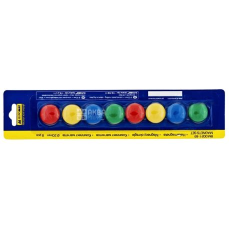 Buromax, 8 pcs., 20 mm, set of magnets, m / s