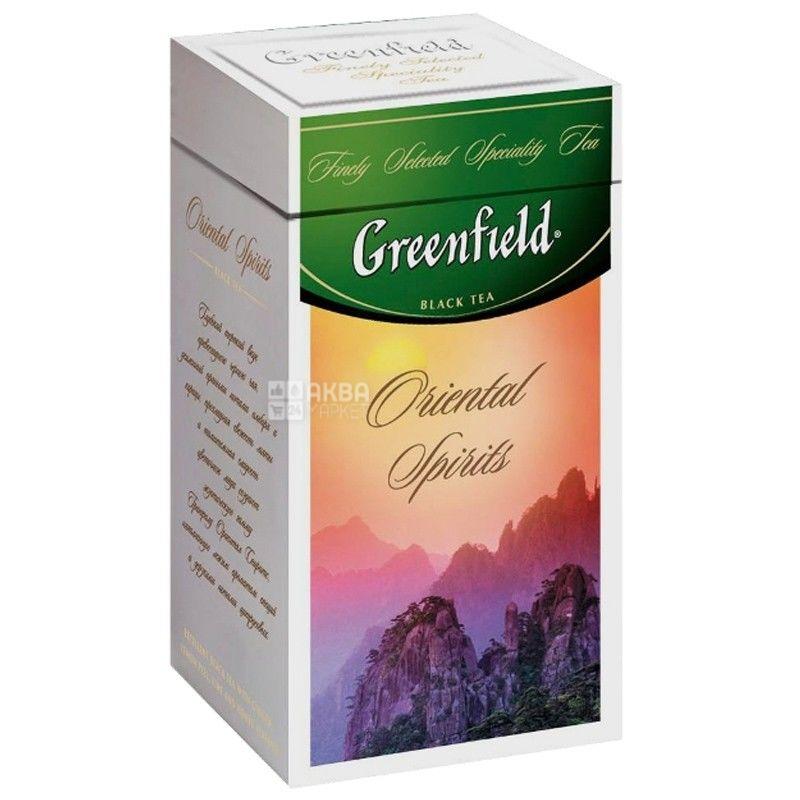 Greenfield, Oriental Spirits, 125 г, Чай Гринфилд, Ориентал Спиритс, черный, ж/б