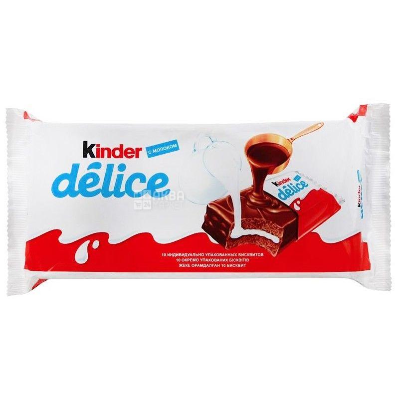 Kinder, пирожное бисквитное, Delice