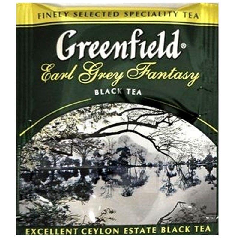 Greenfield, Earl Grey Fantasy, 100 пак., Чай Гринфилд, Эрл Грей Фентези, черный с бергамотом HoReCa